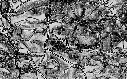 Old map of Botusfleming in 1896