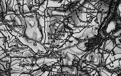 Old map of Botwnnog in 1898