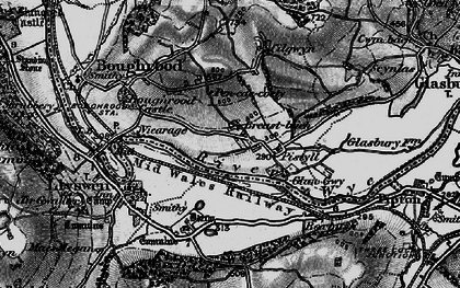 Old map of Boughrood Brest in 1896