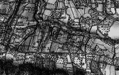 Old map of Boughton Monchelsea in 1895