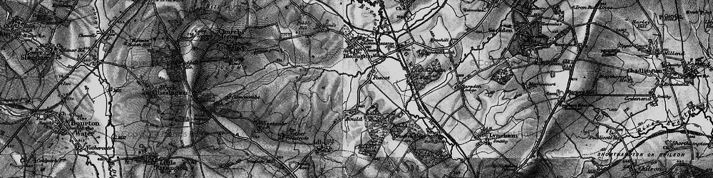 Old map of Westcote Brook in 1896