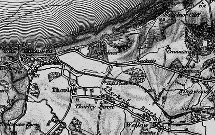 Old map of Bouldnor in 1895
