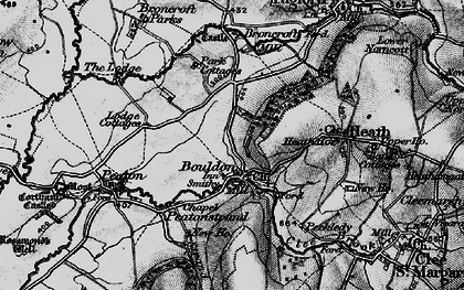 Old map of Wynett Coppice in 1899