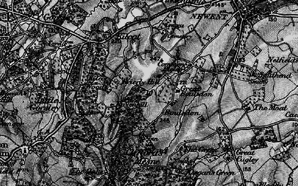 Old map of Acorn Wood in 1896