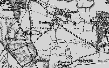 Old map of Boulton in 1895