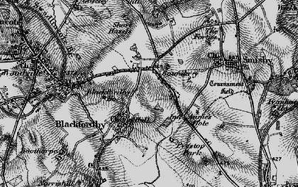 Old map of Boundary in 1895
