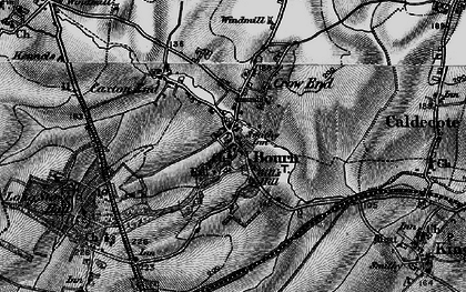 Old map of Bourn in 1898