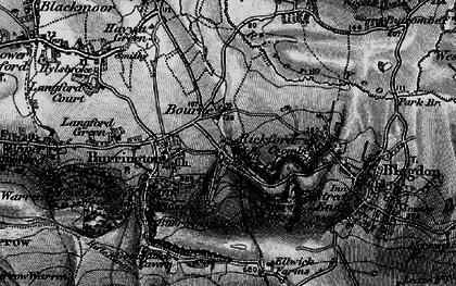Old map of Bourne in 1898