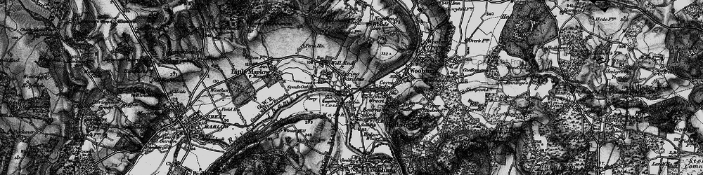 Old map of Bourne End in 1895