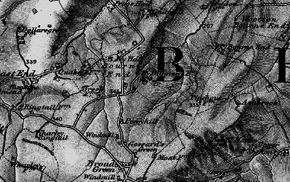 Old map of Bourne End in 1896
