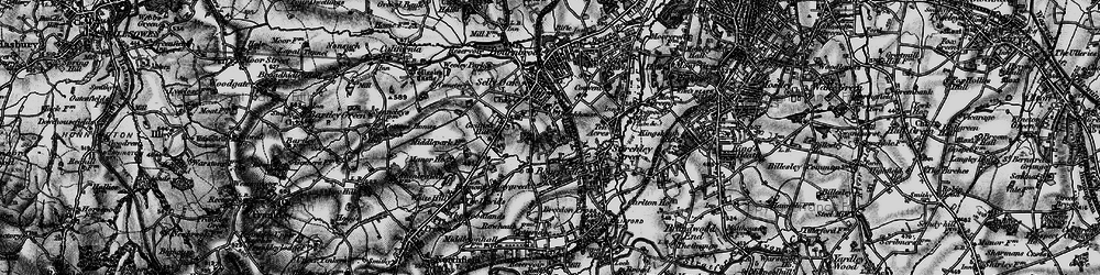 Old map of Bournville in 1899