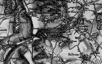 Old map of Bourton in 1898