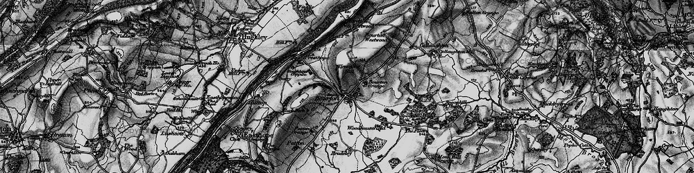 Old map of Woodhousefield in 1899