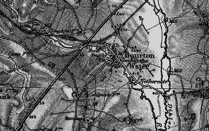 Old map of Bourton-on-the-Water in 1896