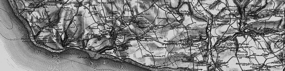Old map of Boverton in 1897