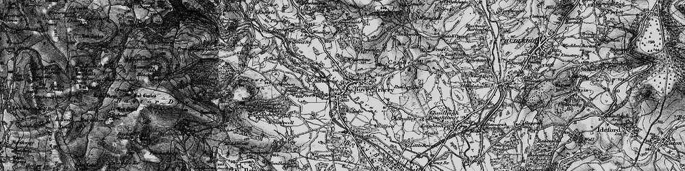 Old map of Whitstone Ho in 1898