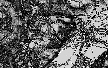 Old map of Bovingdon Green in 1895