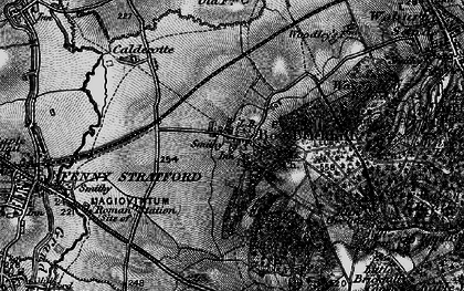Old map of Bow Brickhill in 1896