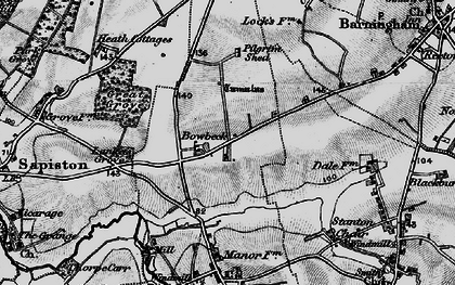 Old map of Lanket's Grove in 1898