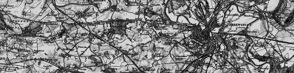 Old map of Woodcote in 1899