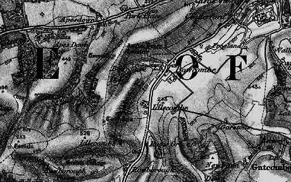 Old map of Apes Down in 1895