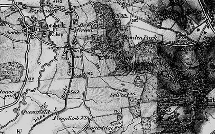 Old map of Bowden Hill in 1898