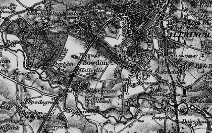 Old map of Bowdon in 1896