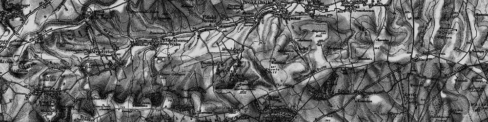 Old map of Bowerchalke in 1895