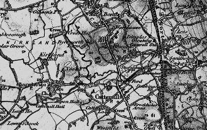Old map of Bowgreave in 1896