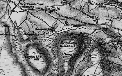 Old map of Bowithick in 1895