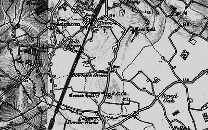 Old map of Bowker's Green in 1896