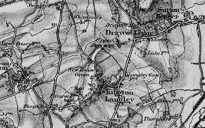 Old map of Bowldown in 1898