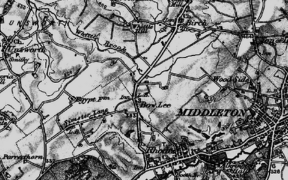Old map of Whittle Brook in 1896