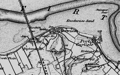 Old map of Bowness-on-Solway in 1897
