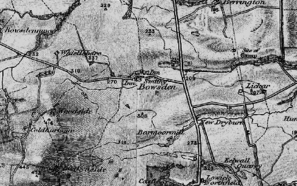 Old map of Lickar Lea in 1897