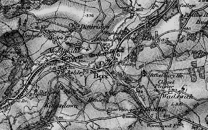 Old map of Box in 1898