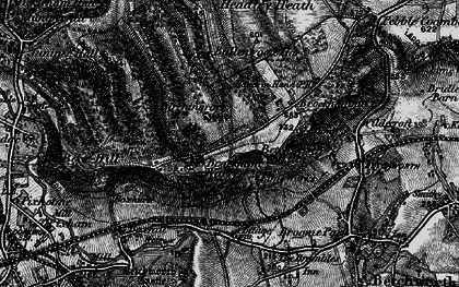 Old map of Box Hill in 1896