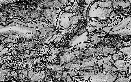 Old map of Box Hill in 1898