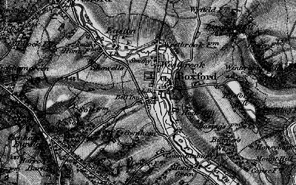 Old map of Boxford in 1895