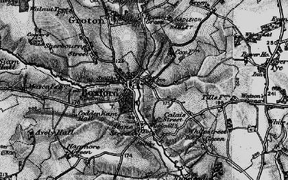 Old map of Boxford in 1896