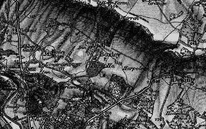 Old map of Boxley in 1895