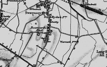 Old map of Boxworth End in 1898