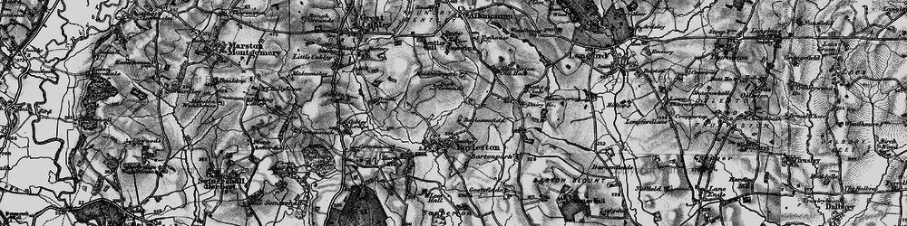 Old map of Alkmonton Village in 1897