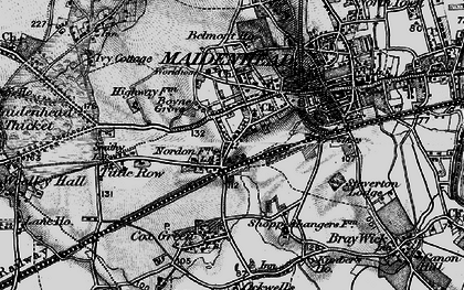 Old map of Boyn Hill in 1895