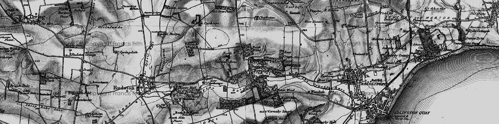 Old map of Boynton in 1897