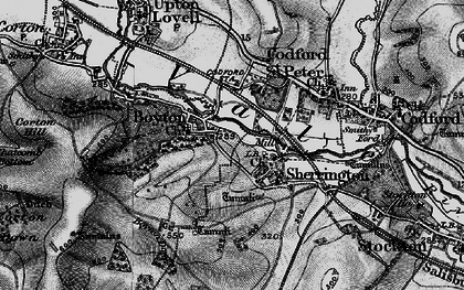 Old map of Boyton in 1898