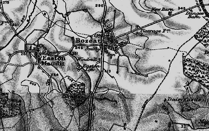 Old map of Bozeat in 1898