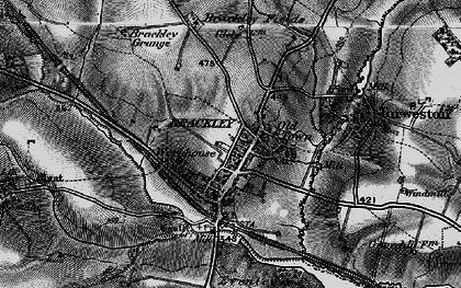 Old map of Brackley in 1896
