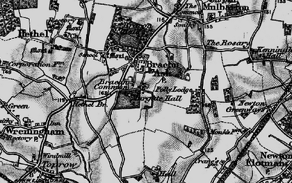 Old map of Mergate Hall in 1898