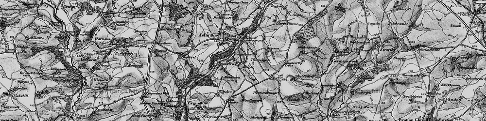 Old map of Woodley Park in 1895